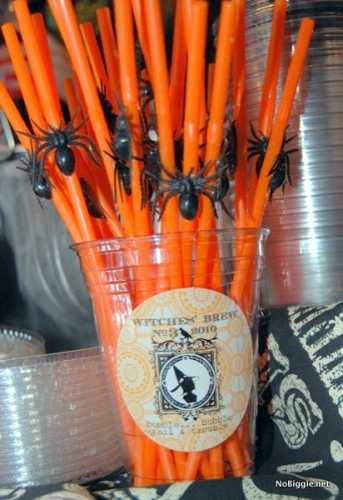decorate-plastic-straws-for-Halloween-more-Halloween-party-ideas