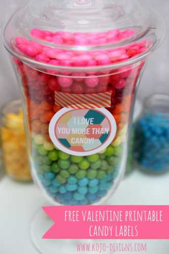 Printable Candy Jar Label Party Ideas