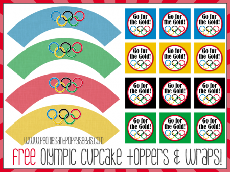 olympic party cupcake decorations