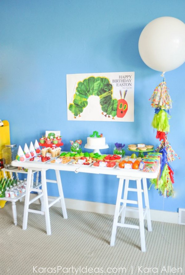 Very Hungry Caterpillar Theme Is Perfect for a Toddlers Birthday