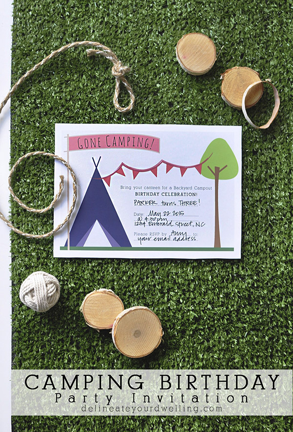 camping birthday party invitation - Camping Party Invitations