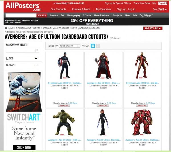 avengers cutouts