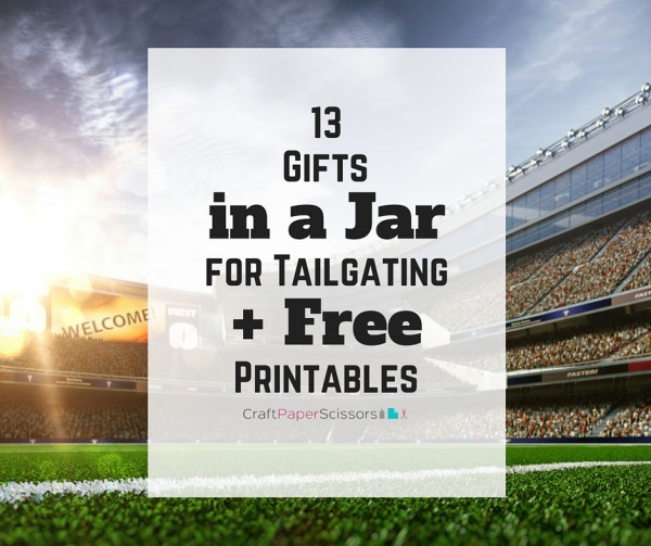 Tailgating Gifts in a Jar