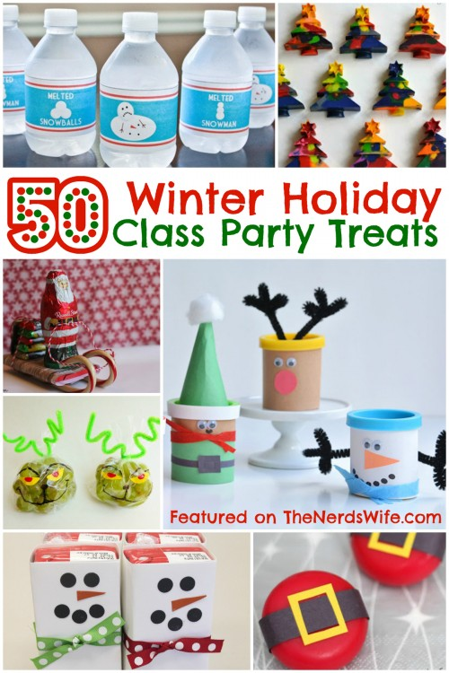 Classroom Birthday Party Treat Ideas ~ Winter holiday class party treats your kids are sure to