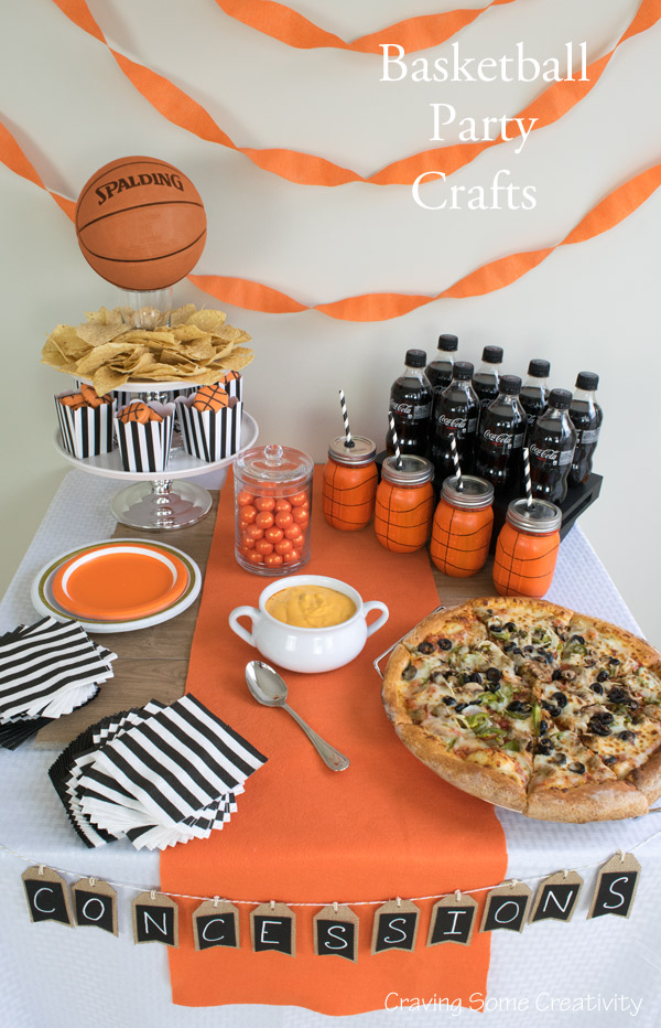 Diy Basketball Party Crafts