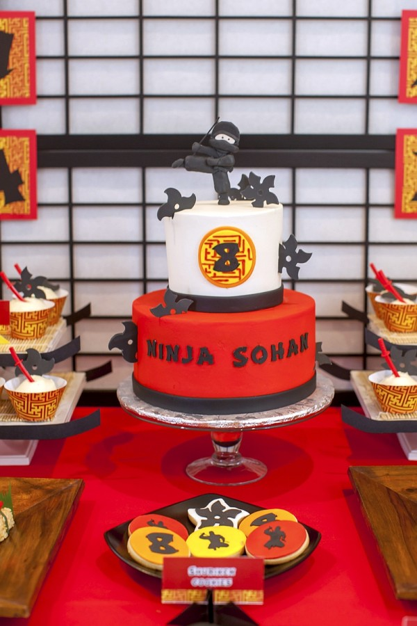 ninja-birthday-party-cake