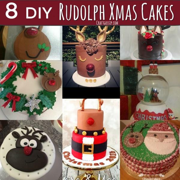 Rudolph Christmas Cakes