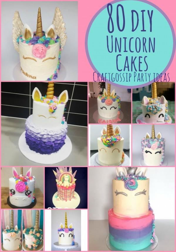 80 diy unicorn cake ideas party ideas. Black Bedroom Furniture Sets. Home Design Ideas
