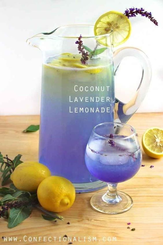 Party Food – Coconut and Lavender Lemonade