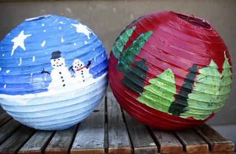 DIY Christmas Paper Lanterns